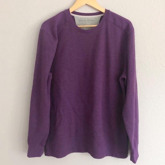 Purple long sleeve, Banana Republic, size XL